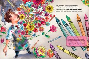 image 2 Binney with flowers spread