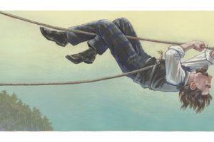 Blondin under rope