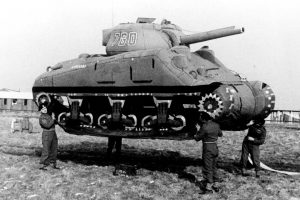 World War II. Rubber tank