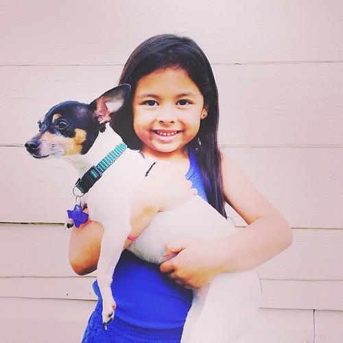 Student holding dog -- inquiry