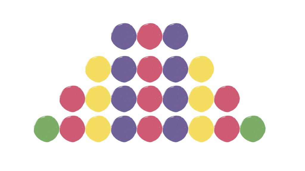 Lit Links - symmetrical pattern